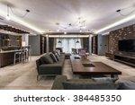 luxury villa living room... | Shutterstock . vector #384485350