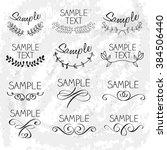 decorative elements   hand...   Shutterstock .eps vector #384506440