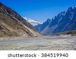 Small photo of Beuatiful landscape of Northern Pakistan. Passu region. Karakorum mountains in Pakistan