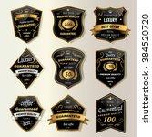 premium coffee labels... | Shutterstock .eps vector #384520720