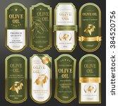 elegant golden labels... | Shutterstock .eps vector #384520756