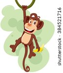 Monkey Hanging On A Branch