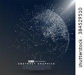 world map point  line ... | Shutterstock .eps vector #384529510