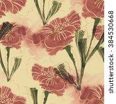 floral seamless pattern | Shutterstock . vector #384530668