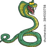 cartoon doodle snake cobra on a ... | Shutterstock . vector #384533758