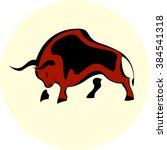 bull attack icon | Shutterstock .eps vector #384541318
