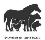 farmers market logo on a white...   Shutterstock .eps vector #384550318