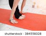 spiritual accessories  candles  ...   Shutterstock . vector #384558328