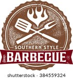 southern style barbecue bbq... | Shutterstock .eps vector #384559324