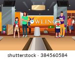 Happy Family Bowling Together...