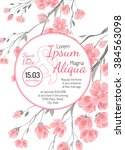 invitation wedding card with...   Shutterstock .eps vector #384563098