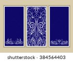set of three background with... | Shutterstock .eps vector #384564403