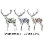 deer illustration  deer male ... | Shutterstock .eps vector #384566248