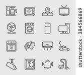 home devices line icon | Shutterstock .eps vector #384566869