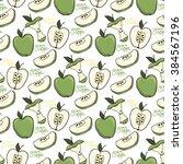 green apple vector seamless... | Shutterstock .eps vector #384567196