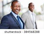 happy afro american businessman ... | Shutterstock . vector #384568288