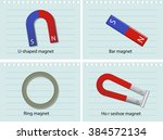 four types of magnets... | Shutterstock .eps vector #384572134