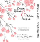 invitation wedding card with... | Shutterstock .eps vector #384574630