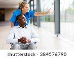 happy healthcare worker taking... | Shutterstock . vector #384576790