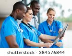 group of medical workers... | Shutterstock . vector #384576844