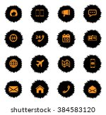contacts  vector icons for web... | Shutterstock .eps vector #384583120
