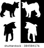 illustration with puppy... | Shutterstock .eps vector #384584176