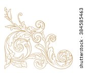 premium gold vintage baroque...   Shutterstock .eps vector #384585463