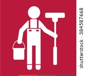 cleaner people icon... | Shutterstock .eps vector #384587668