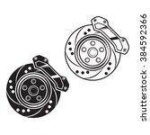 vector car brake. for print ... | Shutterstock .eps vector #384592366