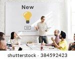 new newly modern present... | Shutterstock . vector #384592423