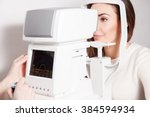 patient in ophthalmology clinic ... | Shutterstock . vector #384594934