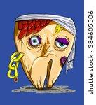Monster Funny Teeth Cartoon...