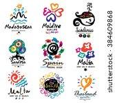 summer logo. down south the... | Shutterstock .eps vector #384609868