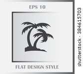 the palm icon  vector...
