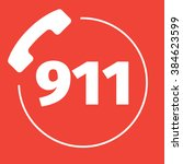 911 emergency call number | Shutterstock .eps vector #384623599