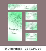 business cards invitations... | Shutterstock .eps vector #384624799