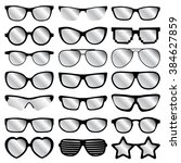 glasses icons on white... | Shutterstock .eps vector #384627859