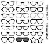 Glasses Icons On White...