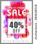end of season sale flyer ...   Shutterstock .eps vector #384638518