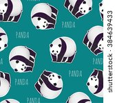 the pattern of pandas seamless... | Shutterstock .eps vector #384639433
