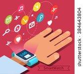 smart watch technology concept... | Shutterstock .eps vector #384643804