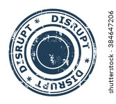 disrupt business concept stamp... | Shutterstock . vector #384647206
