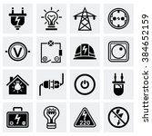 vector electricity icon set | Shutterstock .eps vector #384652159
