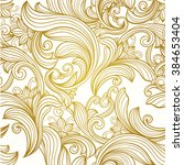 vintage gold  decorative  ... | Shutterstock .eps vector #384653404