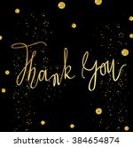 thank you card template with... | Shutterstock . vector #384654874