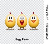 happy easter card  funny... | Shutterstock .eps vector #384655063