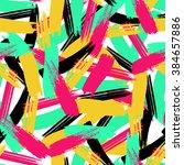 brushstrokes seamless bold... | Shutterstock .eps vector #384657886