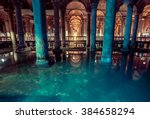 basilica cistern is the largest ... | Shutterstock . vector #384658294