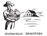 vector black farmer icon on... | Shutterstock .eps vector #384659584