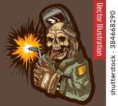 dead welder. vector... | Shutterstock .eps vector #384668290